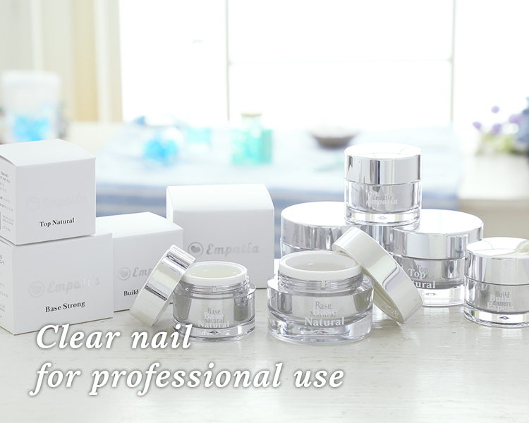 Clear nail for professional use